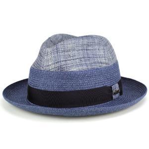 春夏 ファッション 帽子 tesi イタリア ハット 2トーン ラフィア 麻 テシ 帽子 ブランド ストローハット メンズ グレー ネイビー|elehelm-hatstore