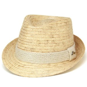 フェドラハット メンズ 帽子 ハット ストローハット ブリブレード 天然繊維 ヤシ TommyBahama fedora ナチュラルカラー|elehelm-hatstore