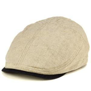 ハンチング 麻 リネン 春夏 トミーバハマ メンズ 帽子 アイビーキャップ クラッシュ生地 涼しい帽子 生成 ナチュラル|elehelm-hatstore