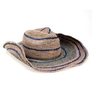 帽子 ハット メンズ カウボーイハット ラフィア細編み トミーバハマ リゾートカジュアル アウトドア つば広 天然繊維 テンガロンハット ブルー|elehelm-hatstore