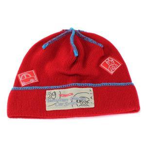 キッズファッション ニット帽 帽子 秋冬 防寒 お洒落 TOMICA トミカ かわいいデザインに注目 レッド|elehelm-hatstore