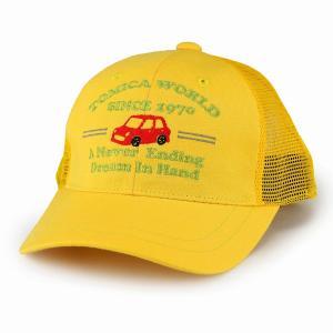キャップ 男の子 黄色 TOMICA カラフル 帽子 トミカ 車 レトロ キッズファッション スポーツカー 通気性 帽子 サイズ調節可/イエロー|elehelm-hatstore