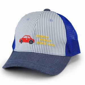 タカラトミー トミカ 帽子 キッズ 男の子 キャップ 車 ヒッコリー デニム 子ども服 青 トミカ キャップ 女の子 サイズ調節可/ブルー|elehelm-hatstore