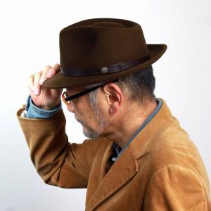 帽子 メンズ ハット 中折れ STETSON 秋冬 インポート フェルト ウール フェドラハット ステットソン シンプル 無地 茶 ブラウン|elehelm-hatstore