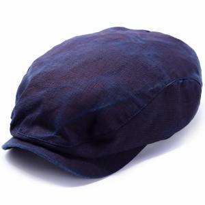 ハンチング帽  WIGENS メンズ 帽子 大きいサイズ ウォッシュドリネン Ivy contemporary cap ヴィゲン インポート ハット 春夏 帽子 紺 ネイビー|elehelm-hatstore