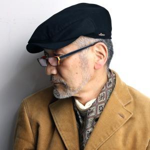 ハンチング カシミア 帽子 wigens ロロ・ピアーナ Loro Piana ウィゲン 秋冬 黒 ブラック|elehelm-hatstore