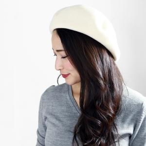 ベレー帽 帽子 レディース レディス 国産バスクベレー 大きいトップで耳まですっぽり帽子 アイボリー|elehelm-hatstore|02
