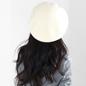 ベレー帽 帽子 レディース レディス 国産バスクベレー 大きいトップで耳まですっぽり帽子 アイボリー|elehelm-hatstore|03