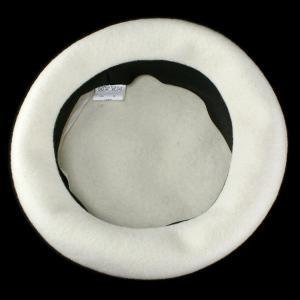 ベレー帽 帽子 レディース レディス 国産バスクベレー 大きいトップで耳まですっぽり帽子 アイボリー|elehelm-hatstore|06