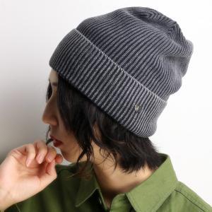 Munsingwear ニット帽 マンシング 帽子 レディース ストーンウォッシュ加工/チャコール|elehelm-hatstore