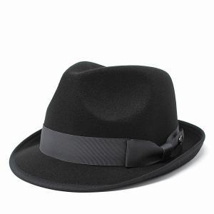 マンシングウエア 秋 冬 中折れハット フェルトハット Munsingwear メンズ レディース ハット シンプル 中折れ 帽子 黒 ブラック elehelm-hatstore