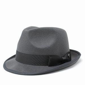 フェルトハット マンシングウエア 秋 冬 中折れハット Munsingwear メンズ レディース ハット シンプル 中折れ 帽子 グレー チャコール elehelm-hatstore
