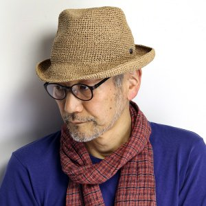 Munsingwear メンズ 麦わら帽子 レディース プール ハット 海 ストローハット 折りたたみ マンシングウエア 水着 リゾート 帽子 茶色 ブラウン|elehelm-hatstore