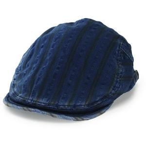 マンシング 春夏 SS17 ハンチング メンズ インディゴ染 ストライプ レディース Munsingwear ブランド ユニセックス/ブルー 青|elehelm-hatstore