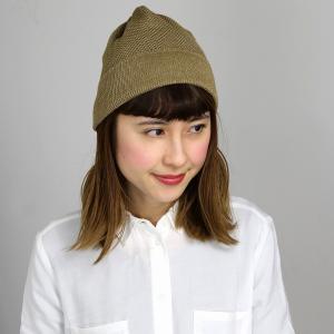 サマーニット帽 涼しい帽子 マンシングウエア ワッチ ニット帽 春夏 サマーニット 帽子 レディース ニットワッチ Munsingwear/ベージュ|elehelm-hatstore