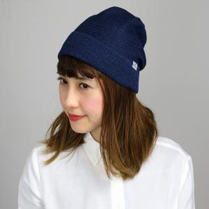 ニット帽 春夏 サマーニット 帽子 レディース サマーニット帽 涼しい帽子 マンシングウエア ワッチ ニットワッチ Munsingwear/紺 ネイビー|elehelm-hatstore