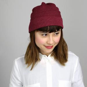 ワッチ ニットワッチ Munsingwear ニット帽 春夏 サマーニット 帽子 レディース サマーニット帽 涼しい帽子 マンシングウエア/ワイン|elehelm-hatstore