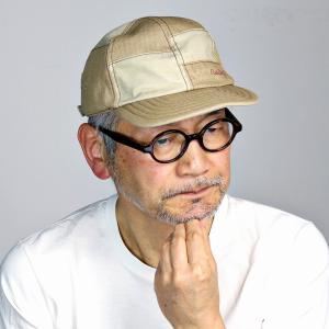 mila schon ダスティヘリンボン キャップ ミラショーン パッチワーク キャップ メンズ サイズ調整可 日本製 春夏 ベージュ|elehelm-hatstore