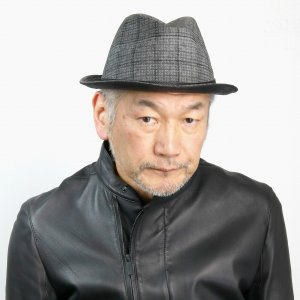 ミラショーン 杢チェック 中折れハット ユニセックス mila schon 日本製 送料無料 ハット 折りたたみ可 チェック柄 メンズ オールシーズン 帽子 グレー|elehelm-hatstore