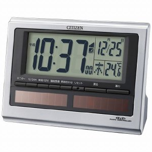 CITIZEN シチズン ソーラー電源電波目覚まし時計 8RZ125-019  【商品番号】6210...