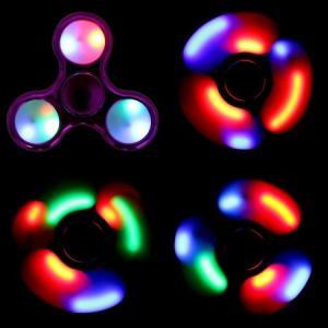 送料無料 新品●LED 光るハンドスピナー 指スピナー 3パターンに光ります●ハンドスピナー カラーランダム ジェットスピナー|elelerueru