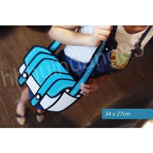 新品 送料無料●2次元 2D イラスト ショルダーバッグ●マンガ バッグ|elelerueru