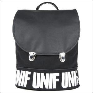 あす着対応 新品 送料無料●UNIF ユニフ DITTO BACKPACK  バックパック ブラック●リュック バッグ|elelerueru