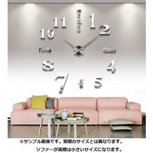 送料無料 新品●壁に貼る  壁時計 ウォールクロック ステッカー●DIY ウォールクロック 時計 ウォールステッカー|elelerueru