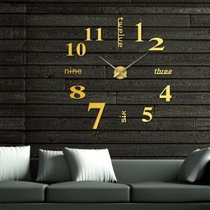 送料無料 新品●ゴールド 壁に貼る 壁時計 ウォールクロック ステッカー  ゴールド●DIY ウォールクロック 時計 ウォールステッカー●ウォールクロック|elelerueru