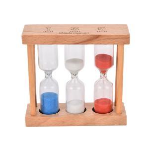 送料無料 新品●砂時計 1分 3分 5分 ウッドフレーム タイマー●時間計測|elelerueru