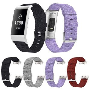 Fitbit Charge3 交換用バンド ナイロン 布 フィットビット チャージ Charge 3...