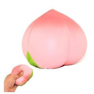 新品 送料無料●スクイーズ ピーチ●低反発 ぬいぐるみ おもちゃ 桃 モモ もも フルーツ かわいい ストラップ 握る ストレス解消 もちもち|elelerueru
