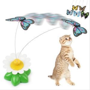 送料無料 新品●ケースに痛み有 猫のおもちゃ 蝶●蝶々 ペット用品 愛猫 ねこのおもちゃ バタフライ|elelerueru