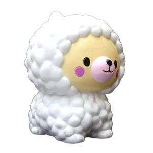 新品 送料無料●約12cm スクイーズ 羊 ひつじ●低反発 ぬいぐるみ おもちゃ 動物 かわいいストラップ 握る ストレス解消 もちもち|elelerueru
