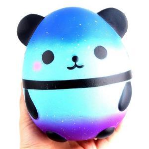 【送料無料】 卵型 ブルー パンダ スクイーズ 低反発 ぬいぐるみ おもちゃ 動物 かわいい ストレス解消 もちもち 新品|elelerueru