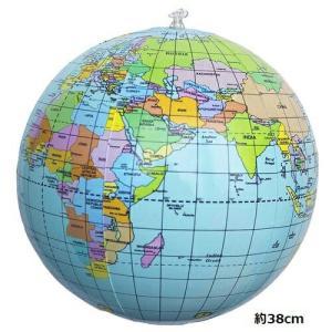 新品 送料無料●ビニールボール ビーチボール 世界地図 約38cm●おもちゃ 地球儀 英語表記世界地図|elelerueru