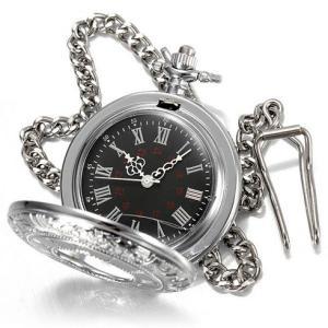 送料無料 新品●懐中時計 クォーツ アナログ時計 シルバー●ローマ数字|elelerueru