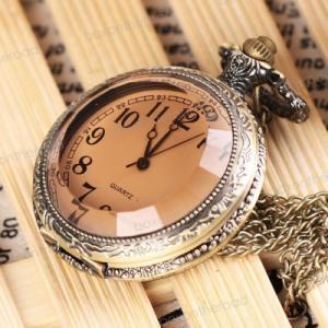 送料無料 新品●懐中時計 クォーツ アナログ時計●アラビア数字|elelerueru