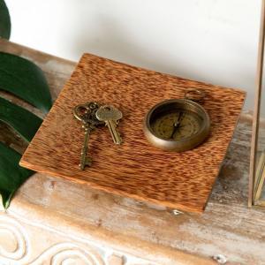 トレイ デコレーショントレイ 木製 雑貨 アジアン 収納 小物入れ ウッド アクセサリートレイ おしゃれ 10146|ELEMENTS
