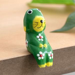 こちらのページは、カラフルなカラーリングが可愛い木彫りのバリ犬1匹(ライトグリーン)の販売ページです...
