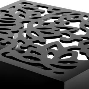アジアン雑貨 ロータスをモチーフにした彫刻アートのマガジンラック elements 02
