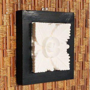 アジアン雑貨 立体的なかわいいお花が彫られたストーンレリーフ アジア工房|elements|02