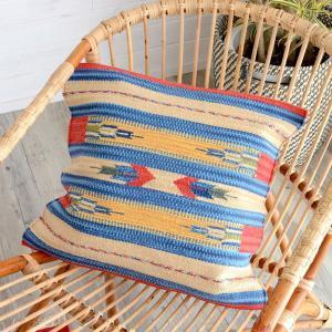 クッションカバー コットンキリム 約45×45cm おしゃれ インド綿 コットン 綿100 モダン 民族 エスニックの写真