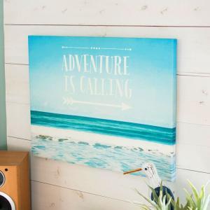 アートパネル ビーチ ロゴ 約60cm×50cm モダンアート アートフレーム 絵画 ウォールデコ―レーション 西海岸 サーフ アメリカン 北欧 おしゃれ|elements