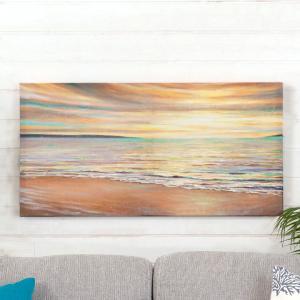 アートパネル 海 キャンパス アートフレーム 額 アートポスター 約80cm×40cm 西海岸 ハワイ グアム バリ セブ 壁掛け インテリア おしゃれ|elements