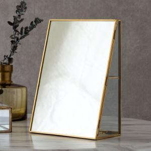 アクセサリーケース ジュエリーボックス 小物入れ アクセサリー ケース 収納 フタ付き ガラス 真鍮 ゴールド ディスプレイ ケース おしゃれ 透明 ミラー 鏡|elements