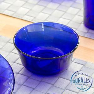 デュラレックス サファイア ボウル250cc DURALEX ブルー 青 皿 ガラス 強化 耐熱 食器 電子レンジ フランス 丈夫 おしゃれ シンプル キッチン用品の画像