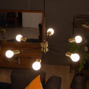ペンダントライト 電球付き 6球 インダストリアル 吊り下げ 照明 リビング 寝室 スチール インテリア おしゃれ elements