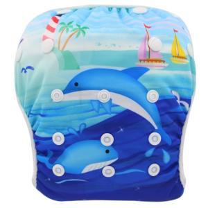 欧米商品ならではの柄、色使いがとっても可愛い赤ちゃん用水遊びオムツ水着。 裏は通気性良く、赤ちゃんの...