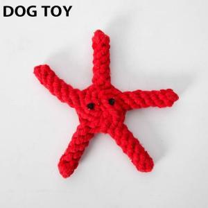 ●ITEM:犬用 おもちゃ ヒトデ 星 スター ワンちゃん用 犬 いぬ ドッグ ぬいぐるみ ロープ ...